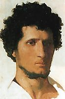 Head of a Peasant of the Roman Campagna, 1843-1845, gerome