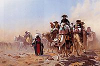Napoleon and his General Staff in Egypt, 1867, gerome