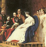 Napoleon III, Eugenie and their Son for Adoption Siamese Ambassadors (detail), gerome
