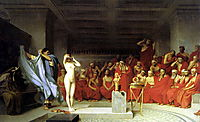 Phryne before the Areopagus, 1861, gerome