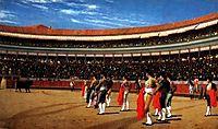 Plaza de Toros, The Entry of the Bull, 1886, gerome