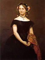 Portrait of Mlle Durand, 1853, gerome