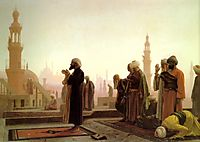 Prayer in Cairo, 1865, gerome