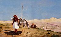 Prayer in the Desert, 1864, gerome
