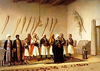 Prayer in the House of an Arnaut Chief, gerome