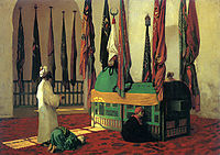 Prayer at the Mausoleum for Sultan Qayut, gerome