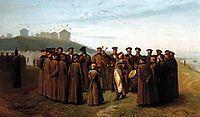 Recreation in a Russian Camp, Souvenir of Moldavia, 1855, gerome