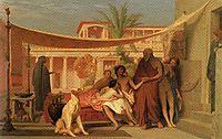 Socrates seeking Alcibiades in the House of Aspasia, gerome