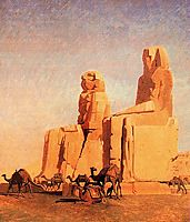 Thebes Colosseums, Memnon and Sesostris (study), 1856, gerome