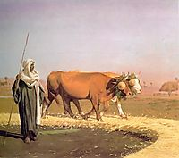 Treading out the Grain in Egypt, 1859, gerome