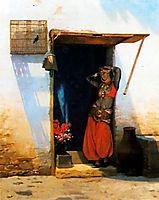Woman of Cairo at her Door, 1897, gerome