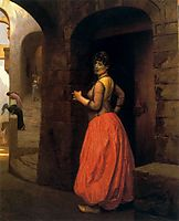 Woman from Cairo Smoking a Cigarette, 1882, gerome