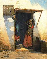 Womanof Cairo at Her Door, gerome