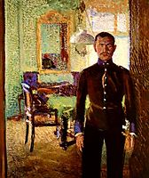 Portrait of a Lieutenant (Alois Gerstl), 1906, gerstl