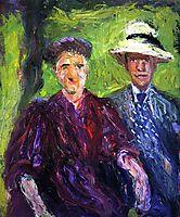 Double Portrait (green background), 1908, gerstl