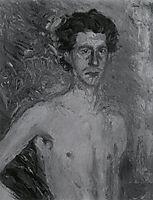 Fragment of a Self-Portrait, 1908, gerstl