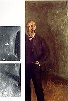 Fragment of a smiling self-portrait at full length, c.1904, gerstl