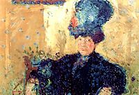 Half-length portrait of Mathilde Schoenberg, 1908, gerstl