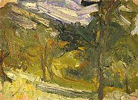 Landscape study, 1907, gerstl