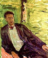 Portrait of a gentleman (green background), 1908, gerstl