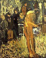 Nude in Garden, 1908, gerstl