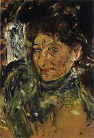 Portrait of Mother, Maria Gerstl, unfinished, 1908, gerstl