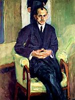 Portrait of a seated man, 1908, gerstl