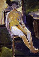Seated Female Nude, 1908, gerstl