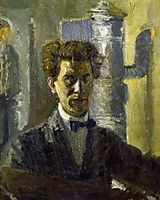 Self-Portrait in Front of the Stove, 1907, gerstl