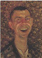 Self-Portrait Laughing, 1907, gerstl