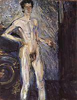 Self Portrait (Nude in a full figure), September 1908, gerstl