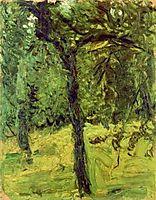 Tree in the garden, 1907, gerstl