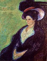 Woman with Feathered Hat, 1907, gerstl