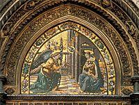 Annunciation closeup, 1490, ghirlandaio