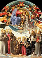 Coronation of the Virgin, 1486, ghirlandaio
