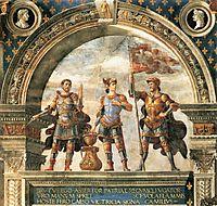 Decoration of the Sala del Gigli, 1484, ghirlandaio