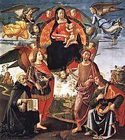 Madonna in Glory with Saints, c.1490, ghirlandaio