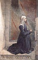 Portrait of the Donor Nera Corsi Sassetti, 1485, ghirlandaio