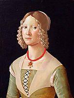 Portrait of Giovane Donna, ghirlandaio