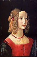 Portrait of a Girl, c.1490, ghirlandaio