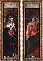 St. Catherine of Siena and St. Lawrence, c.1490, ghirlandaio