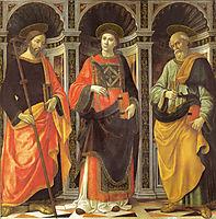 St. Stephen, St. Jacobo, St. Peter, ghirlandaio