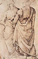 Study of Two Women, c.1486, ghirlandaio