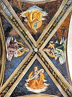 Vaulting of the Sassetti Chapel, c.1485, ghirlandaio
