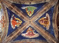 Vaulting of the Tornabuoni Chapel, 1490, ghirlandaio