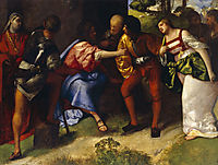 The Adulteress brought Before Christ, giorgione