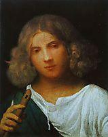 Boy with flute, 1508, giorgione