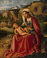 Madonna and Child in a Landscape, 1504, giorgione