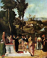 Moses Undergoing Trial by Fire, giorgione