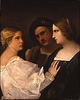 Two women and a man ( Trio) , giorgione